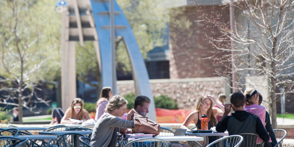 Students around the CSU campus enjoying the early Spring weather.