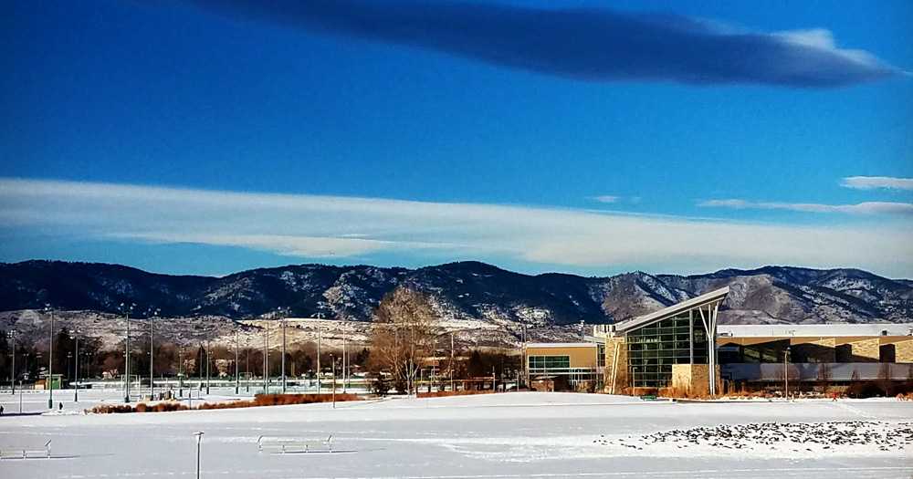 A view of the foothills on the CSU campus.