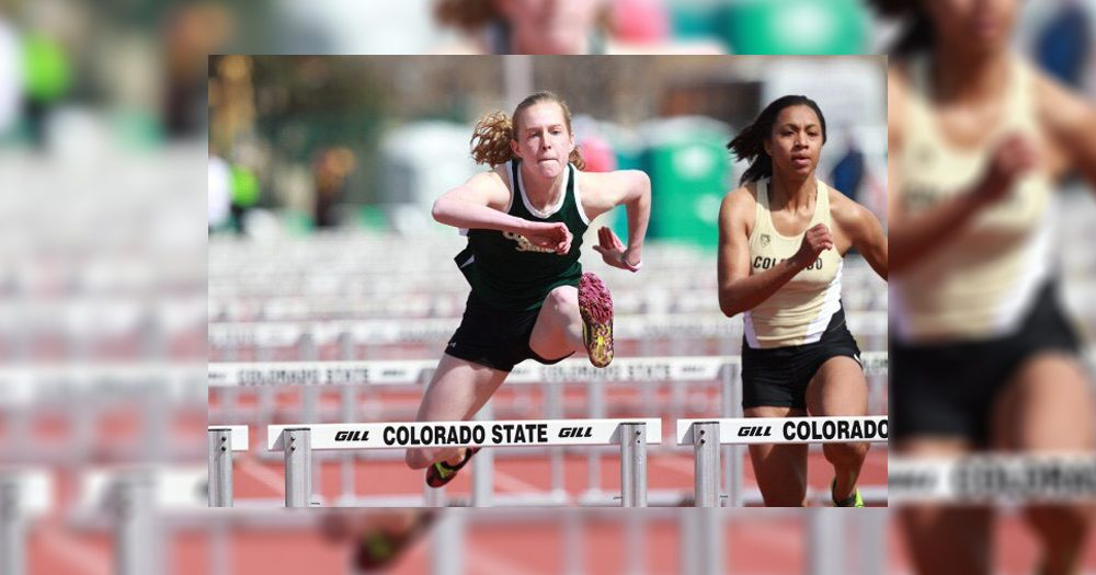 Gabby competes with the CSU Track and Field team her freshman year.