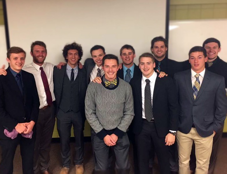 Alex, 4th on the left, pictured with his fellow 2016-2017 executive board members.
