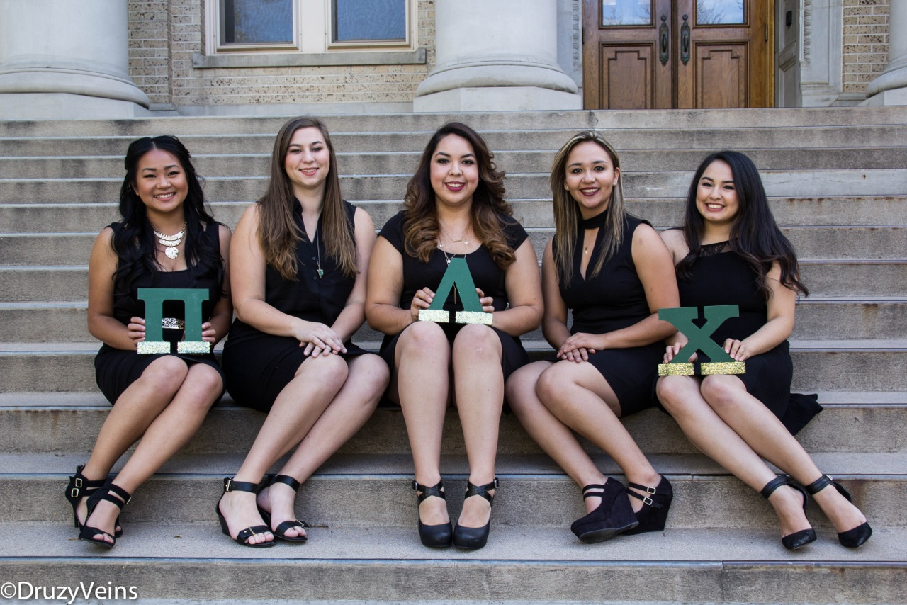 Joselyn, 2nd on the right, with her Pi Lambda Chi sisters.