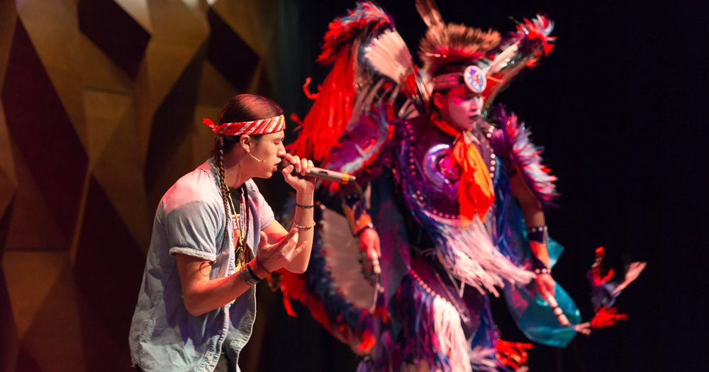 The NACC office brought Frank Waln and the Sampson Brothers to campus as the 2015 Native American Heritage Month headliner.