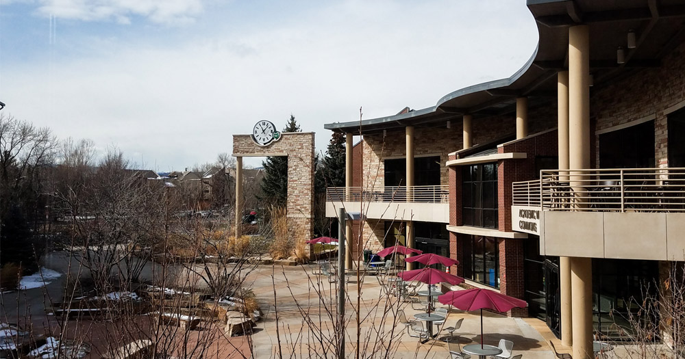 Honors hall overlooks the Ram's Horn dining center.