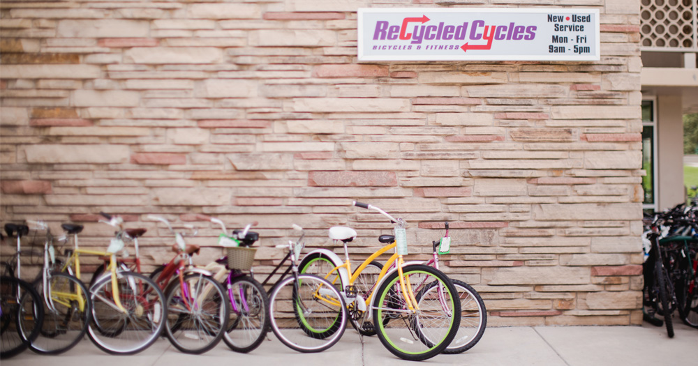 Recycled Cycles, located on the CSU campus, offers bike rentals.