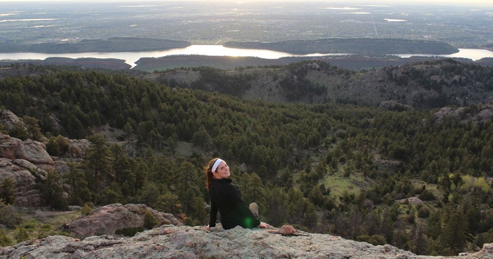 Emily takes as many hikes as possible in her free time, and is planning to hike some 14ers before graduation.
