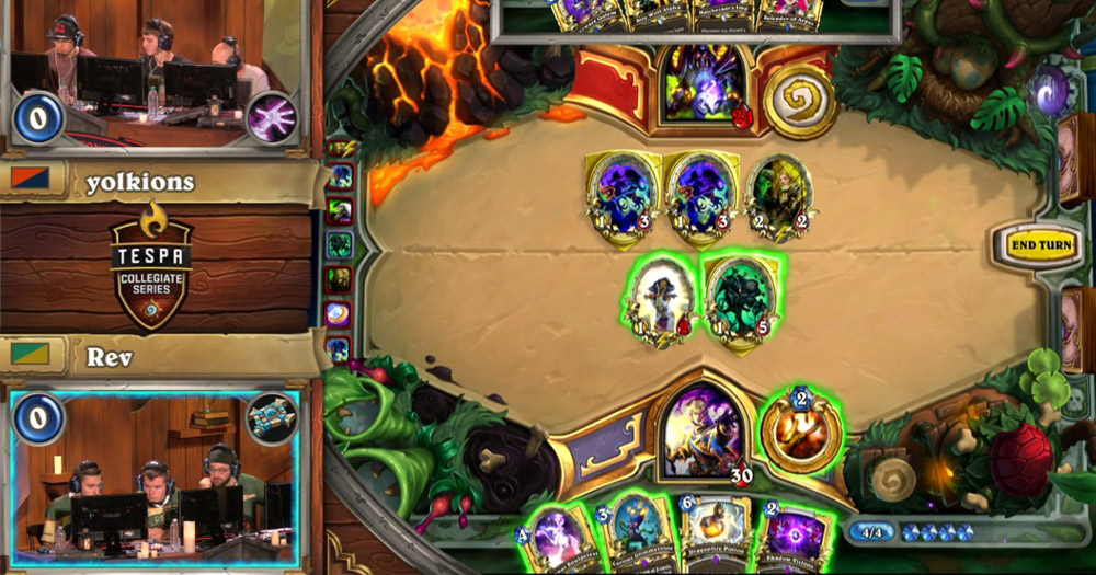 The CSU Ram Wranglers, pictured bottom left, during the Hearthstone Collegiate Tournament.