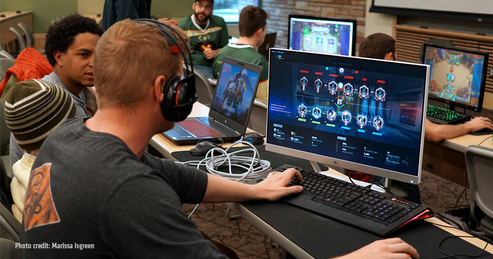 CSU Esports Association members compete in an on-campus tournament. Photo Credit: Marissa Isgreen.