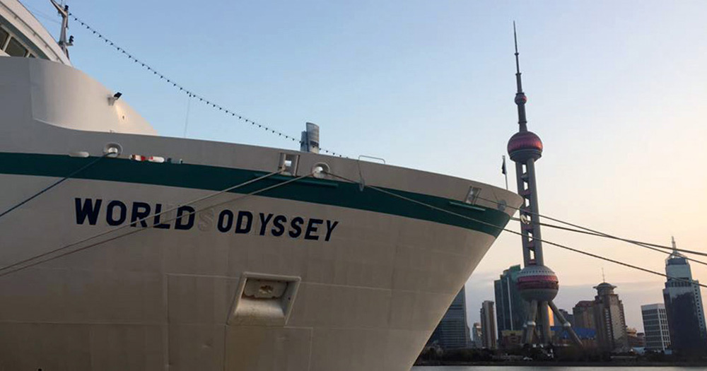The World Odyssey cruise ship becomes SAS participants' home for a semester.