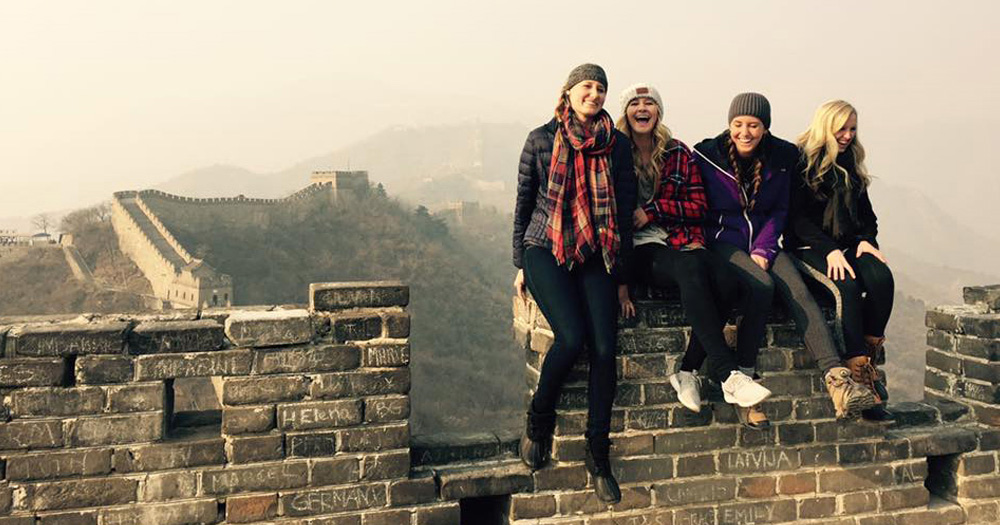 Rachel and her fellow SAS participants were able to visit the Great Wall of China during the trip.