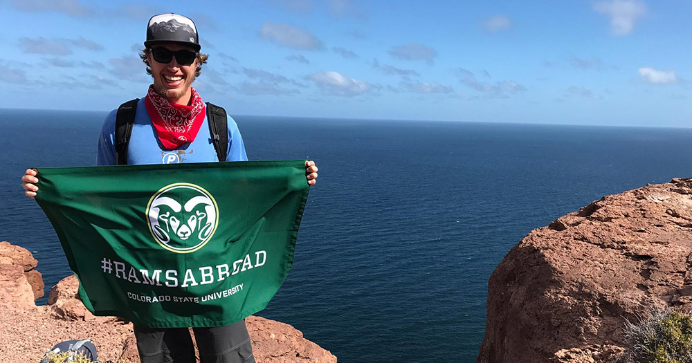 Current student Cole in Todos Santos, Mexico during his education abroad program.
