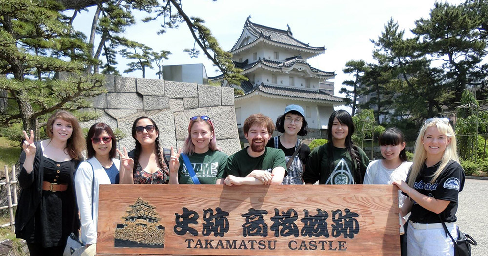 CSU students visit Takamatsu during their Japanese Language and Culture program based out of Kagawa University.