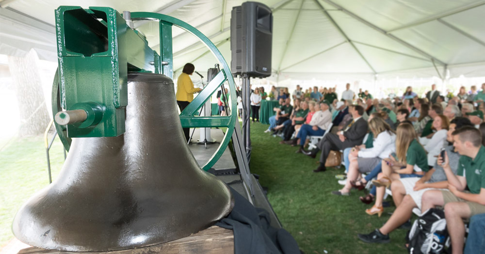 Stolen and buried for over 50 years, the Old Main bell will once again have a CSU home at the new on-campus stadium.