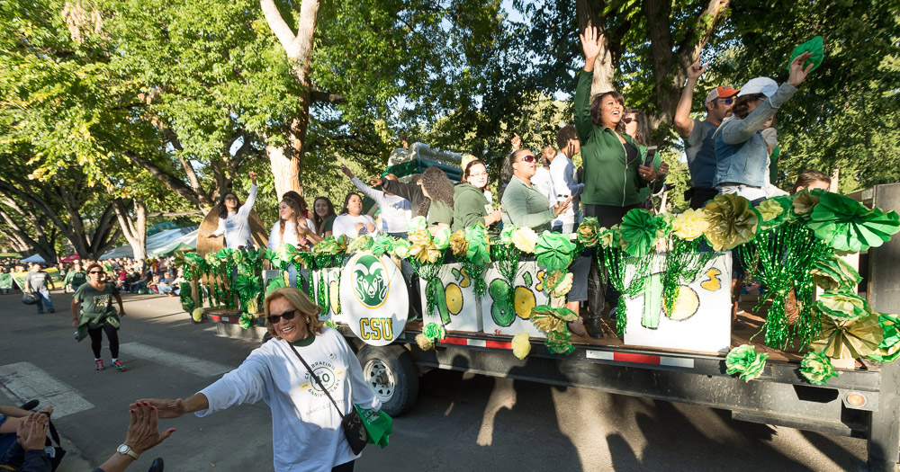 Each year students, faculty/staff, and the community come together for a Homecoming parade.