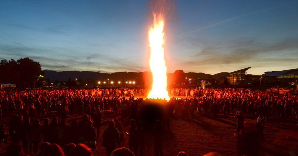 The annual Homecoming bonfire is a can't-miss tradition at CSU.