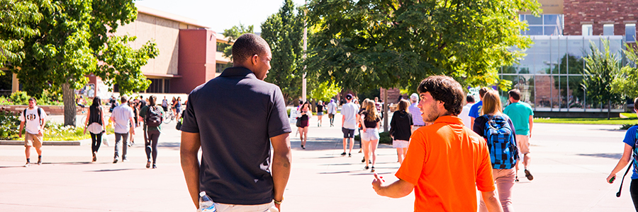 Students on a CSU campus tour