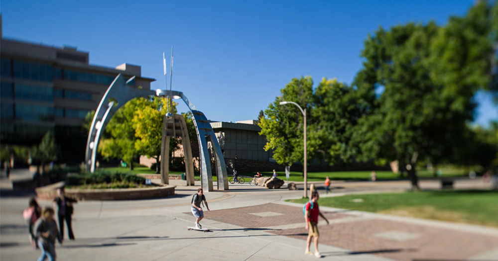Students on the CSU campus.