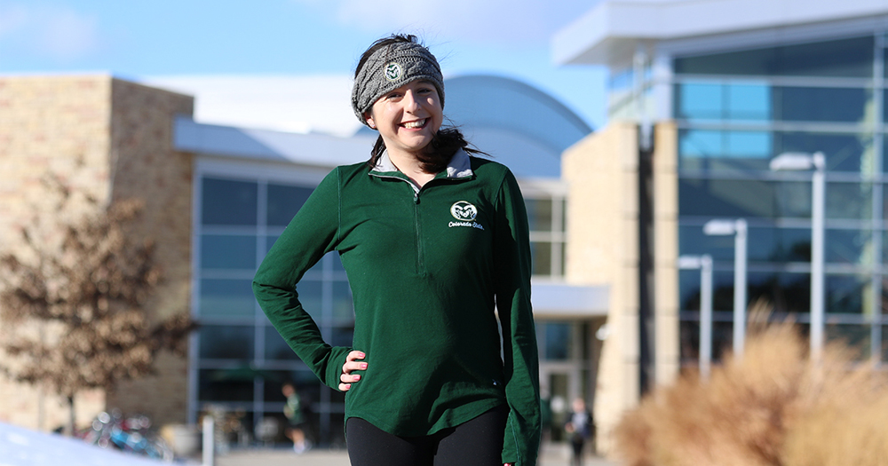 Deanna outside of Campus Recreation