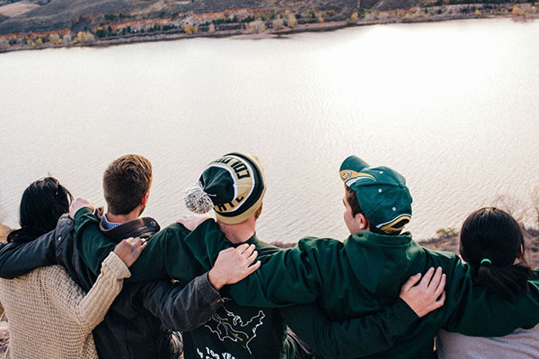 students at horsetooth