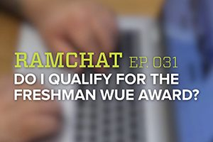 Ramchat title grapihc: Do I qualify for the freshman WUE award?