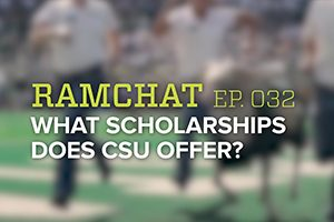 Ramchat title graphic: What Scholarships does CSU offer?