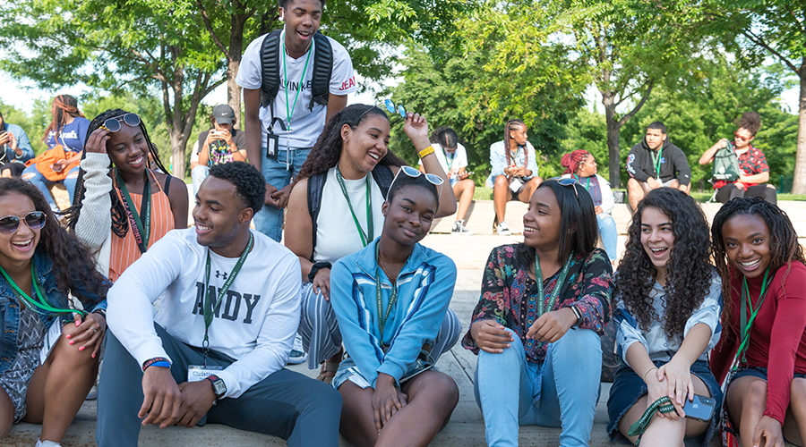 High school students from around the country explore Old Town during Colorado State Univerity's 27th Annual Black Issues Forum, June 12, 2019.